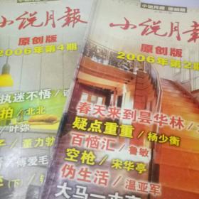 小说月报2006年 原创版第2.4期   两本合售