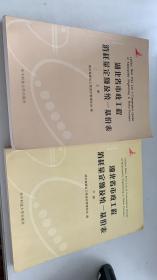 湖北省市政工程消耗量定额及统一基价表(2008版)上下 两册