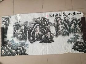 [3417 秦岭山水画一幅 横幅