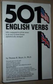 英文原版书 501 English Verbs: Fully Conjugated in All the Tenses in a New Easy-to-Learn Format, Alphabetically Arranged (Barrons Educational Series) Paperback – 26 May 2000 by Beyer (Author)
