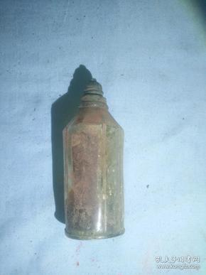 (箱6)民国 满洲国时期  药瓶  底部有  坂崎英文,尺寸12*5.5cm
