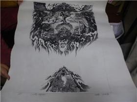 伍琳铜版版画56/76有签名(有出刊书不能给)