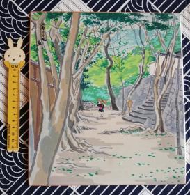 色纸 木版画 大原三千院
