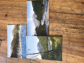3016:民国日本上高地 风景彩色明信片3张
