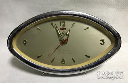 金鸡牌机械老闹钟上弦马蹄钟全铜机芯正常走时老物件收藏