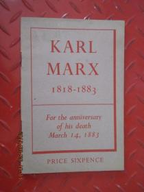 卡尔  马克思   KARL   MARX  1818-1883   For  the  anniversary  of  his  death  March  14,1883