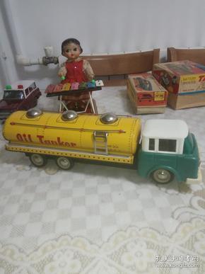 老铁皮玩具 油罐车
