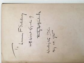 洪培克(Stanley K.Hornbeck)签名书《CHINA TO-DAY:POLITICAL》硬精装一册