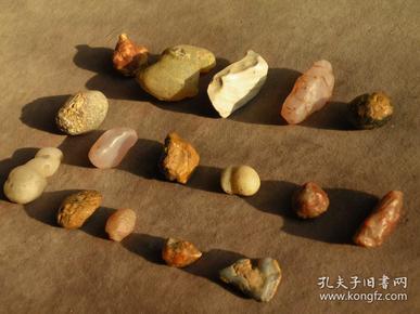 老戈壁玛瑙原石16块