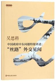"""中国政府中东问题特使讲述:""""丝路""""外交见闻"""