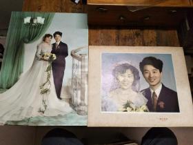 七八十年代婚纱照片两张合售