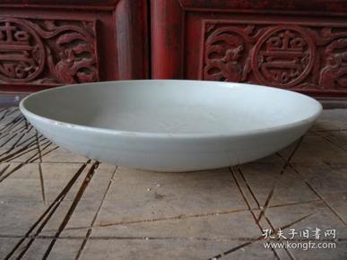 老白釉盘子