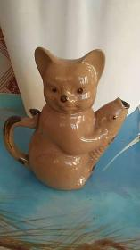 小猫 瓷器  茶壶 摆件