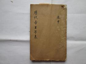 清刻本 历代帝王年表(卷2)