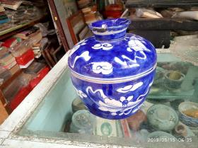 清代潮州瓷,青花瓷罐