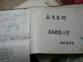 1985年 县直建设小学会员名册