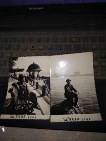1983年青岛海滨风的照片2张