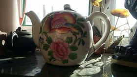 老茶壶 图案 桃