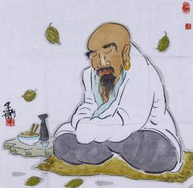 著名畫家、國家一級美術師 耿孟剛 水墨人物畫作品《心靜養生圖》一幅(紙本托片,約4平尺;作品由《中國美術市場報》直接得自于藝術家本人)  HXTX100537