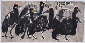 著名書畫家、藝術家 韓濤(三壽) 水墨畫作品《六合同春》一幅(紙本托片,約8平尺;作品由《中國美術市場報》直接得自于藝術家本人)  HXTX100542
