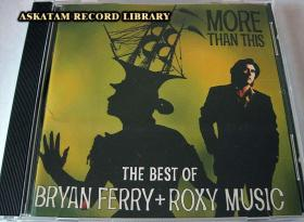 BRYAN FERRY ROXY MUSIC MORE THAN THIS 美版 近全新