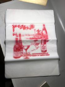 青岛葡萄酒厂,葵花牌,老包装广告纸,30张,挺大的