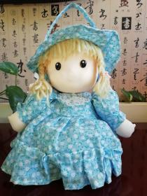 王府井工美大楼1970年代出品的传统布艺娃娃纯棉做工精制萌哒哒