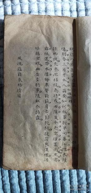 325大清秀才,江南第二名(储正)手写稿本一册全,尺寸24-13公分
