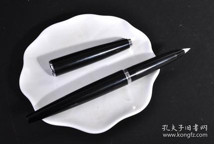 60年代早期最早一批英产派克 45(PARKER 45)黑杆半钢纯钢尖古董钢笔