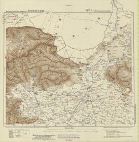 《昌平地图》,密云地图,延庆地图,怀柔地图,北京山区地图,1907年德国陆军参谋处绘制,史料价值较高。原件现藏国外,原件复制。极为清晰。天津老地图。裱框后风貌更佳。