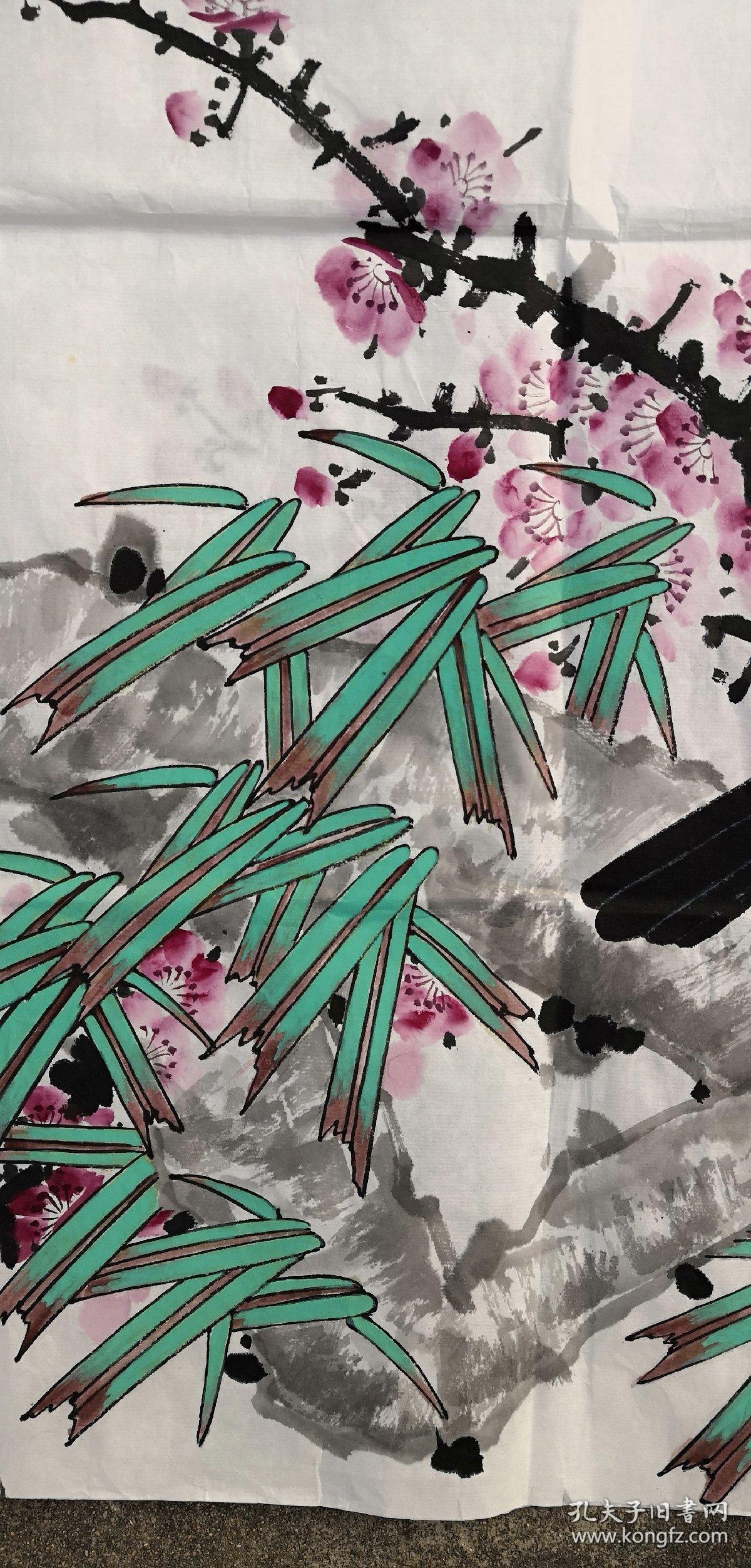 安徽著名老画家……68*137……梅鹊图……之一图片