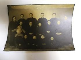 民国大幅家族合影照片20*14厘米