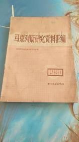 马恩列斯研究资料汇编1980年