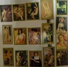 特大优惠中 外国人体油画纪念张16张 第一组