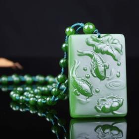 顶级绿玉髓吊坠,真正的极品绿玉吊坠,非常水润,温润如女人肌肤,绿玉是青春和生命实力的象征,希望的象征,可遇不可求值得永久收藏