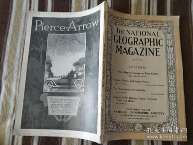 National Geographic July 1915 国家地理杂志 1915年7月号  原版进口 品佳包邮