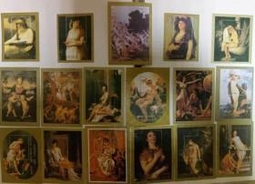 特大优惠中  外国人体油画纪念张17张  第三组