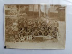 大正年间日本军人合影照片