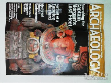 Archaeology(magazine) 2013/03-04美国考古学会原版英文学术期刊右上角有残少一块