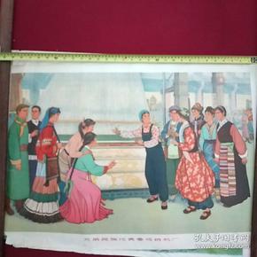 兄弟民族代表参观纺机1973年
