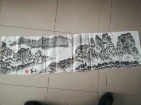 [3461  张志华山水画一幅  横幅