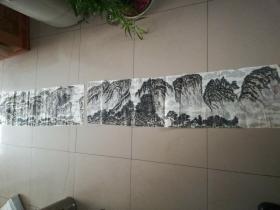 [3463  张志华山水画一幅  横幅