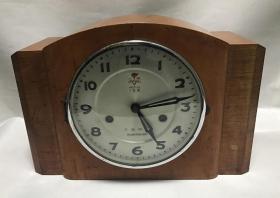 80年代大连钟厂火炬牌15天机械座钟上弦老台钟正常走时怀旧收藏