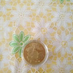 2011年兔生肖贺岁纪念币(单枚)