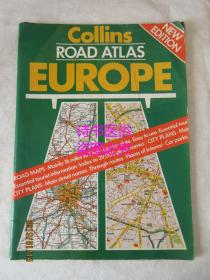 COLLINS ROAD ATLAS EUROPE(1984)