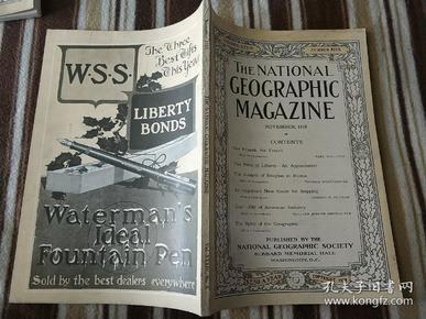 National Geographic November 1918 国家地理杂志 1918年11月号  原版进口 品佳包邮