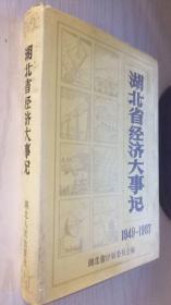 湖北省经济大事记:1949~1987【精】
