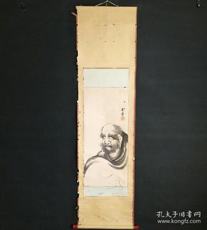 8168:日本回流 :人物图挂轴(回流字画.回流老画.回流真迹)