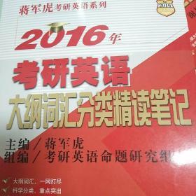 2016年考研英语大纲词汇分类精读笔记