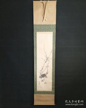 8171:日本回流 :梅花图挂轴(回流字画.回流老画.回流真迹)